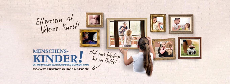 Menschenskinder Webportal vom Kinderschutzbund NRW.